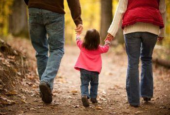 Parents,child walking